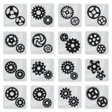 传染媒介嵌齿轮象(黑色&白色) 免版税库存照片