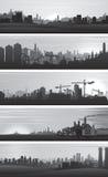 传染媒介工业背景,都市风景 免版税库存照片
