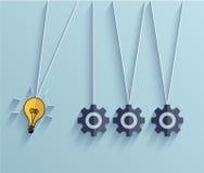 传染媒介平的想法企业背景。Eps 10 图库摄影