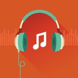 传染媒介平的概念-音乐 免版税图库摄影
