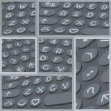 传染媒介平的现代键盘,字母表按钮 物质设计 免版税图库摄影