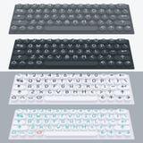 传染媒介平的现代键盘,字母表按钮 物质设计 免版税库存照片