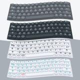 传染媒介平的现代键盘,字母表按钮 物质设计 库存图片