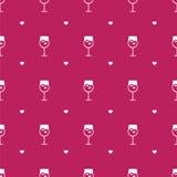 传染媒介平的minimalistic酒无缝的样式 免版税图库摄影