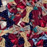 传染媒介弓领带的样式 免版税库存图片