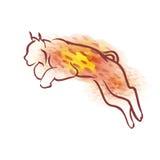 传染媒介水彩天猫座 库存图片