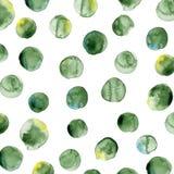 传染媒介水彩样式 圆形样式 皇族释放例证