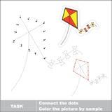 传染媒介彩票赌博 将被追踪的玩具风筝 库存照片