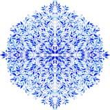 传染媒介水彩蓝色留下装饰品 免版税库存图片