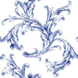 传染媒介水彩蓝色纹理样式 皇族释放例证