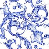 传染媒介水彩蓝色纹理样式 向量例证