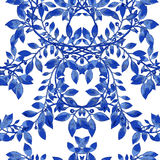 传染媒介水彩蓝色纹理样式 库存例证