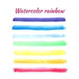 传染媒介水彩设计的彩虹条纹 向量例证