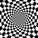 传染媒介徒升黑白光学圈子背景 免版税库存图片