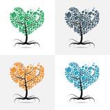 传染媒介心形的树 免版税库存照片