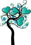 传染媒介心脏形状树 免版税库存照片