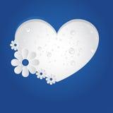 传染媒介心脏背景/小册子设计 免版税库存图片