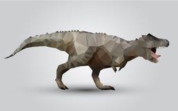 传染媒介恐龙风格化三角多角形模型 库存例证