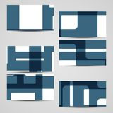 传染媒介您的设计的事务卡片集合 免版税库存照片