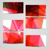传染媒介您的设计的事务卡片集合 库存照片