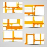 传染媒介您的设计的事务卡片集合 免版税图库摄影