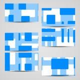 传染媒介您的设计的事务卡片集合 图库摄影