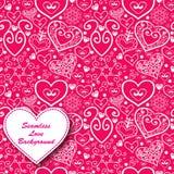 传染媒介情人节有花边的纸心脏问候 图库摄影