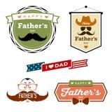传染媒介愉快的父亲节五颜六色的标签 向量例证