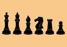 传染媒介成套现出轮廓棋形象 向量例证
