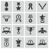 传染媒介黑战利品和奖象 免版税图库摄影