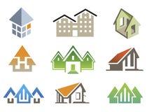 传染媒介房子元素 免版税库存照片