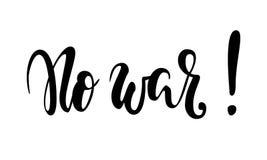 传染媒介手写的题字没有战争 手拉的刷子笔字法 免版税库存照片