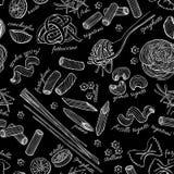 传染媒介手拉的面团样式 免版税图库摄影