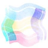 传染媒介手拉的水彩刷子污点 五颜六色的被绘的冲程 免版税库存图片
