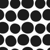 传染媒介手拉的黑白无缝的样式 图库摄影