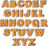 传染媒介手拉的ABC信件 免版税库存照片