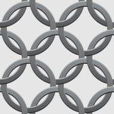 传染媒介扭转的圆环无缝的样式背景 库存照片