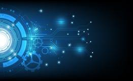 传染媒介技术圈子和技术背景 免版税库存照片