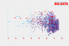 传染媒介抽象五颜六色的大数据点剧情形象化 未来派infographics设计 免版税库存照片