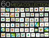 传染媒介抽象五颜六色的形状各种各样的概念 库存图片