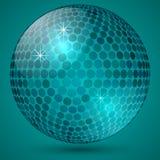 传染媒介抽象光亮的水晶球 免版税库存图片