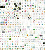 传染媒介抽象公司商标兆收藏 免版税库存图片
