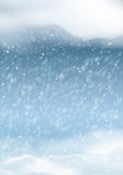 传染媒介抽象冬天降雪背景 免版税库存图片