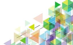 传染媒介抽象几何数字式样式五颜六色的概念 库存图片