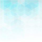 传染媒介抽象几何背景 模板小册子设计 蓝色六角形形状 免版税库存照片
