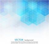 传染媒介抽象几何背景 模板小册子设计 蓝色六角形形状EPS10 免版税库存照片