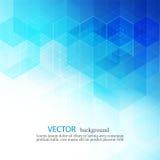 传染媒介抽象几何背景 模板小册子设计 蓝色六角形形状EPS10 图库摄影
