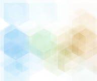 传染媒介抽象几何背景 蓝色六角形形状 库存图片