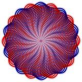 传染媒介抽象圆的扭索状装饰样式 库存照片