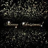 传染媒介抽象圣诞快乐或金黄的新年 免版税库存图片